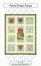 Spring Creek Needleart Farm Fresh Faces pattern