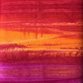 Henry Glass Gemstone Batik Aubergine Flame 8646-89