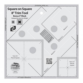 Creative Grids Square on Square Trim Tool 8 inch