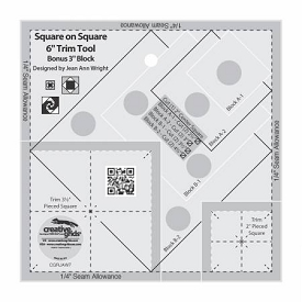 Creative Grids Square on Square Trim Tool 4 inch