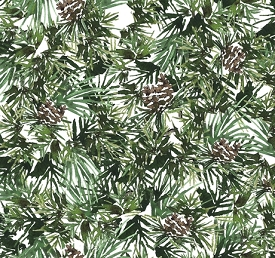 Quilting Treasures North Woods Neighbor Pine White 26854-Z