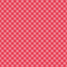 Riley Blake Cozy Christmas Gingham Pink C7972-Pink