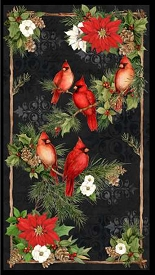 Cardinal Noel Multi Large Panel 24in x 43in