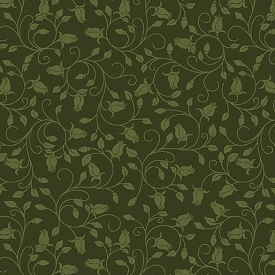 Benartex A Festival Of Roses Trailing Buds Dark Green