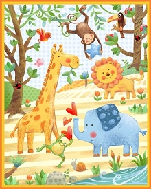 Wee Ones Jungle Party Panel 36 x 44