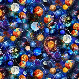Timeless Treasures Outer Space