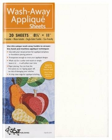 Wash Away Applique Sheets